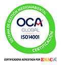 Empresa certificada en ISO 14001