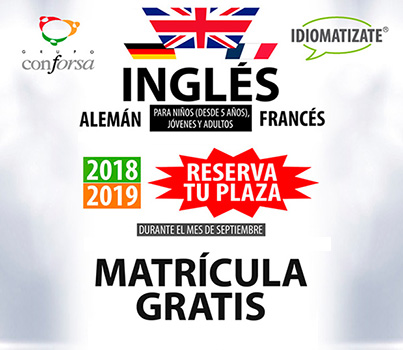 Matrícula idiomas 2018/2019